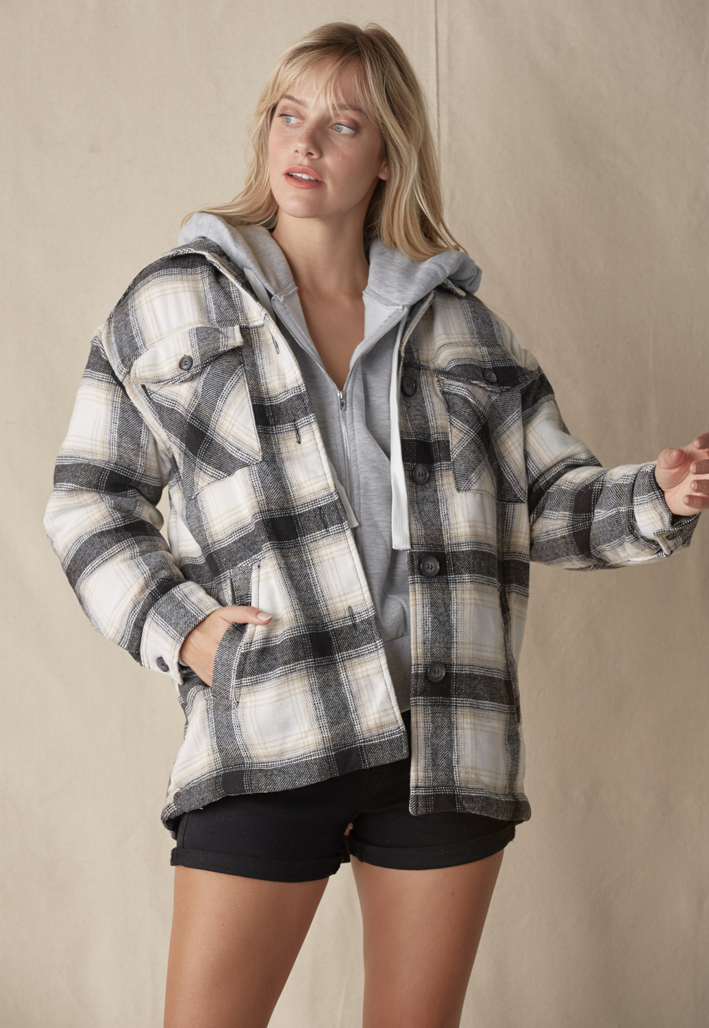 Over-Sized Plaid Shacket