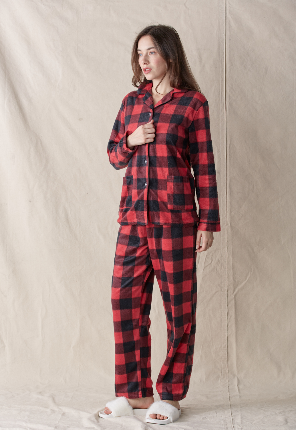 Check Pajama Set