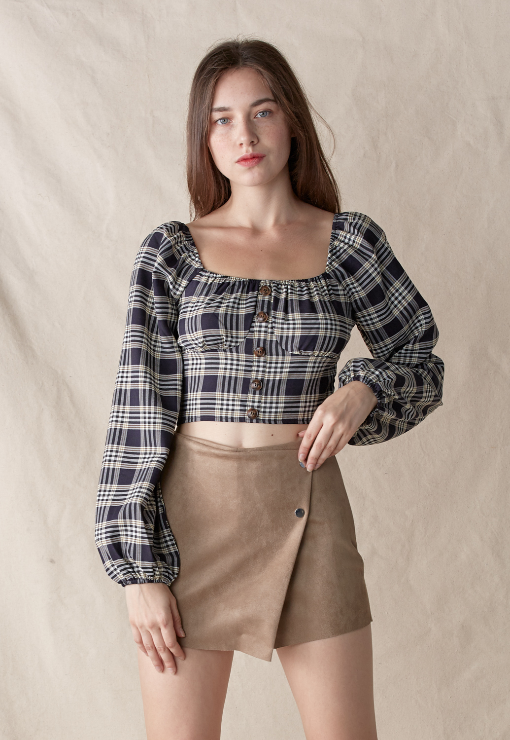 Plaid Cropped Top
