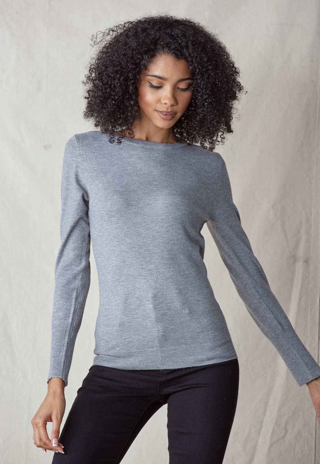 Round Neck Knit Top