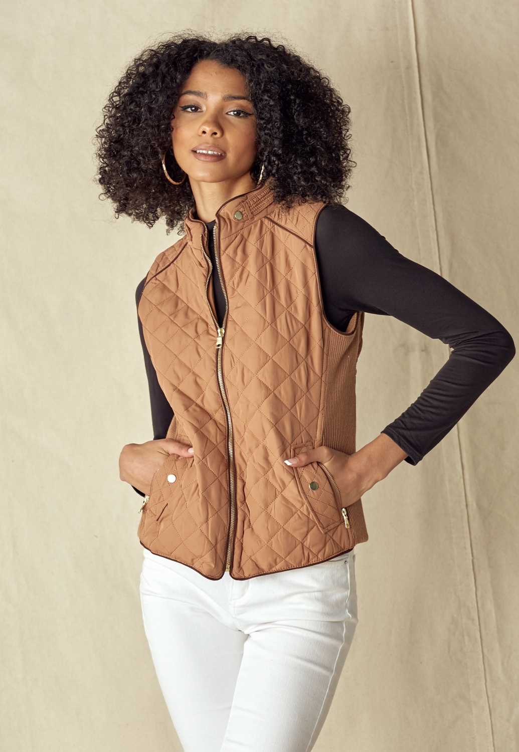 Quilted Vest Fully Lined Lightweight Padded Vest