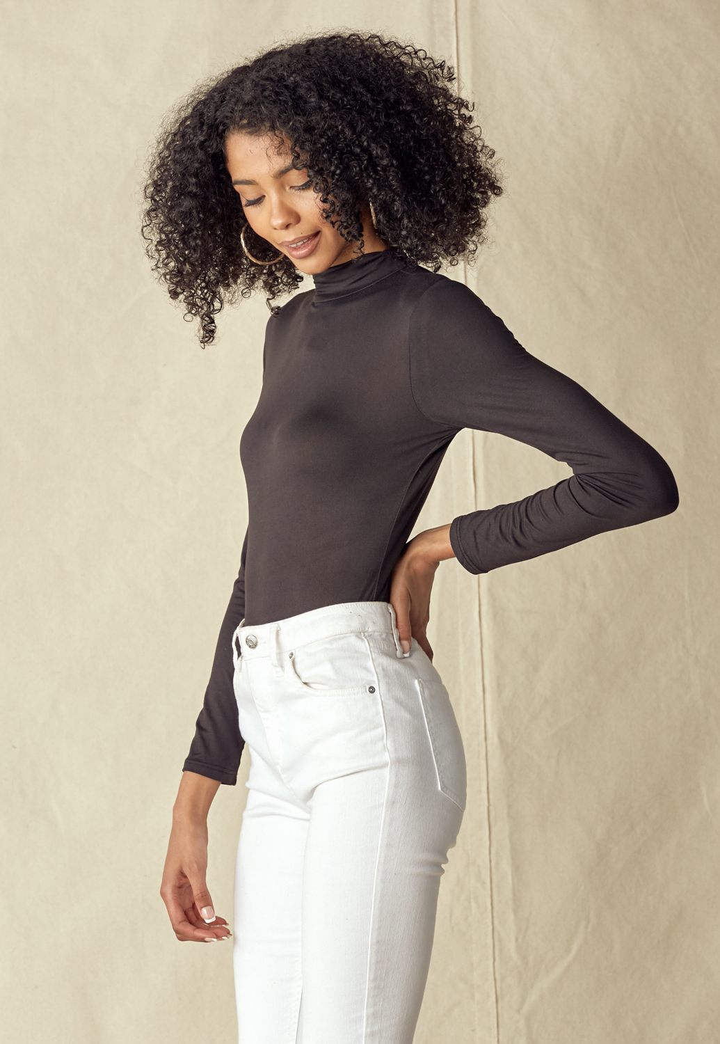 Long Sleeve Mock Neck Bodysuit