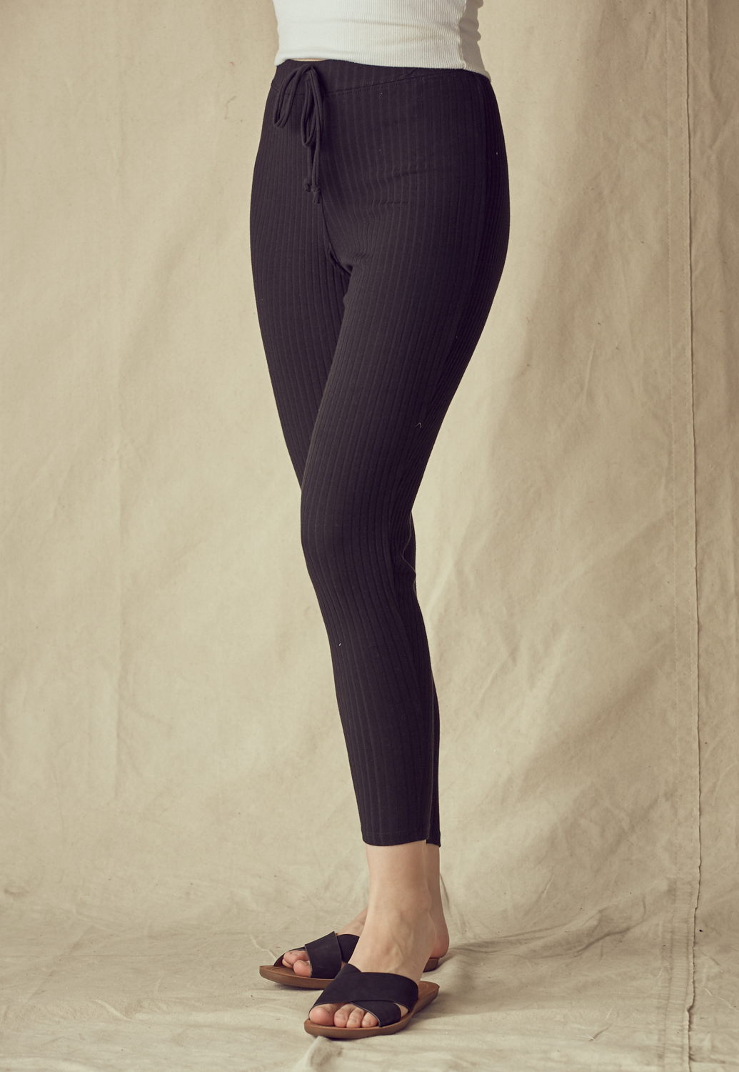 Rib Knit Leggings Pants