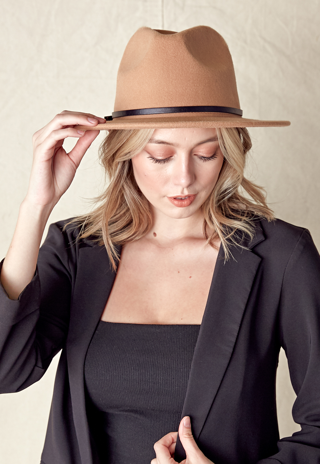 Panama Hat With Belt Trim