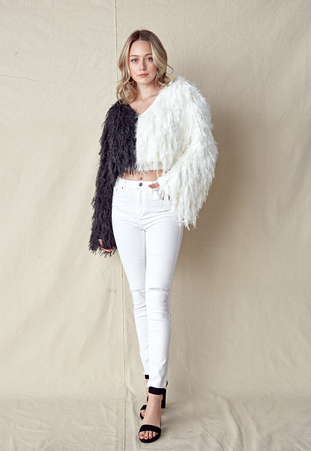 Mixed Fur Short Jacket