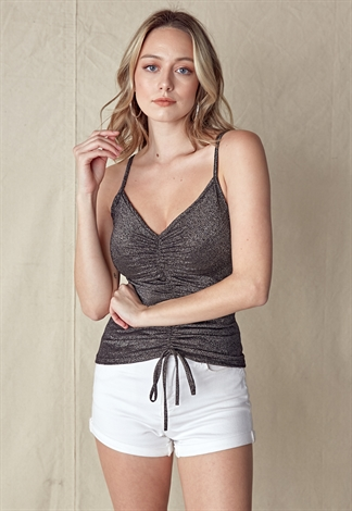 Metallic Cami Crop Top