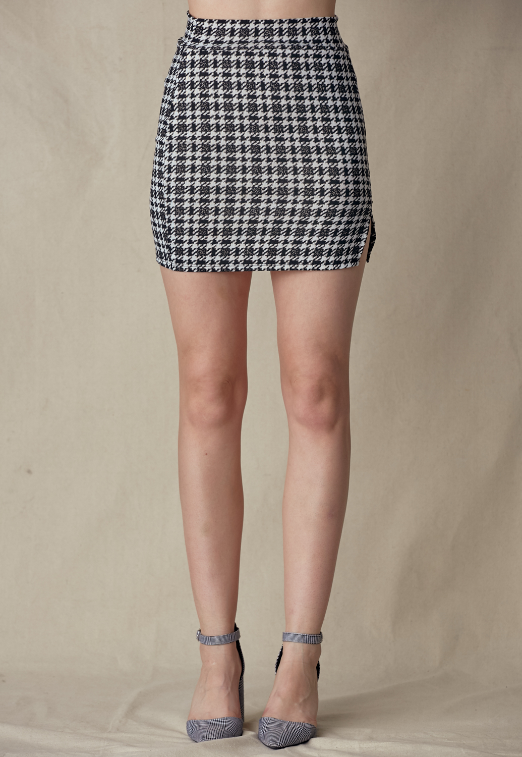 Houndtooth Cami Top & Skirt Set