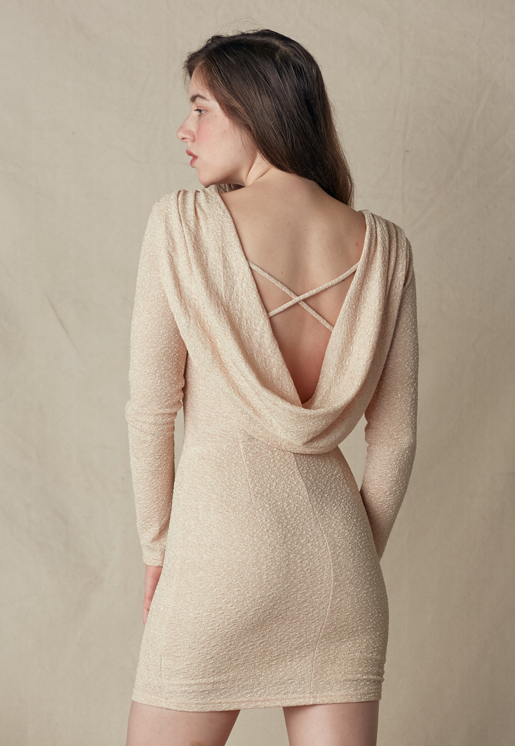 Cowl Back Mini Dress