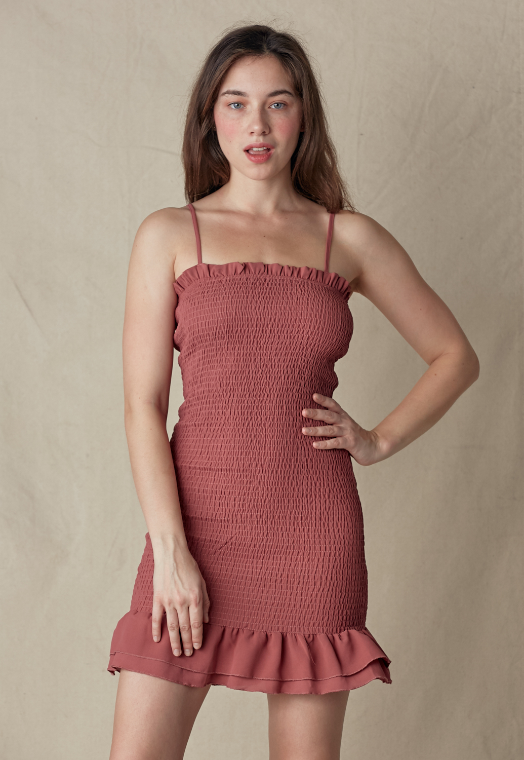 Smocked Bodycon Dress