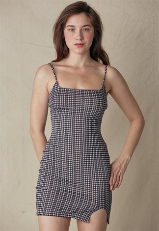 Plaid Cami Mini Dress
