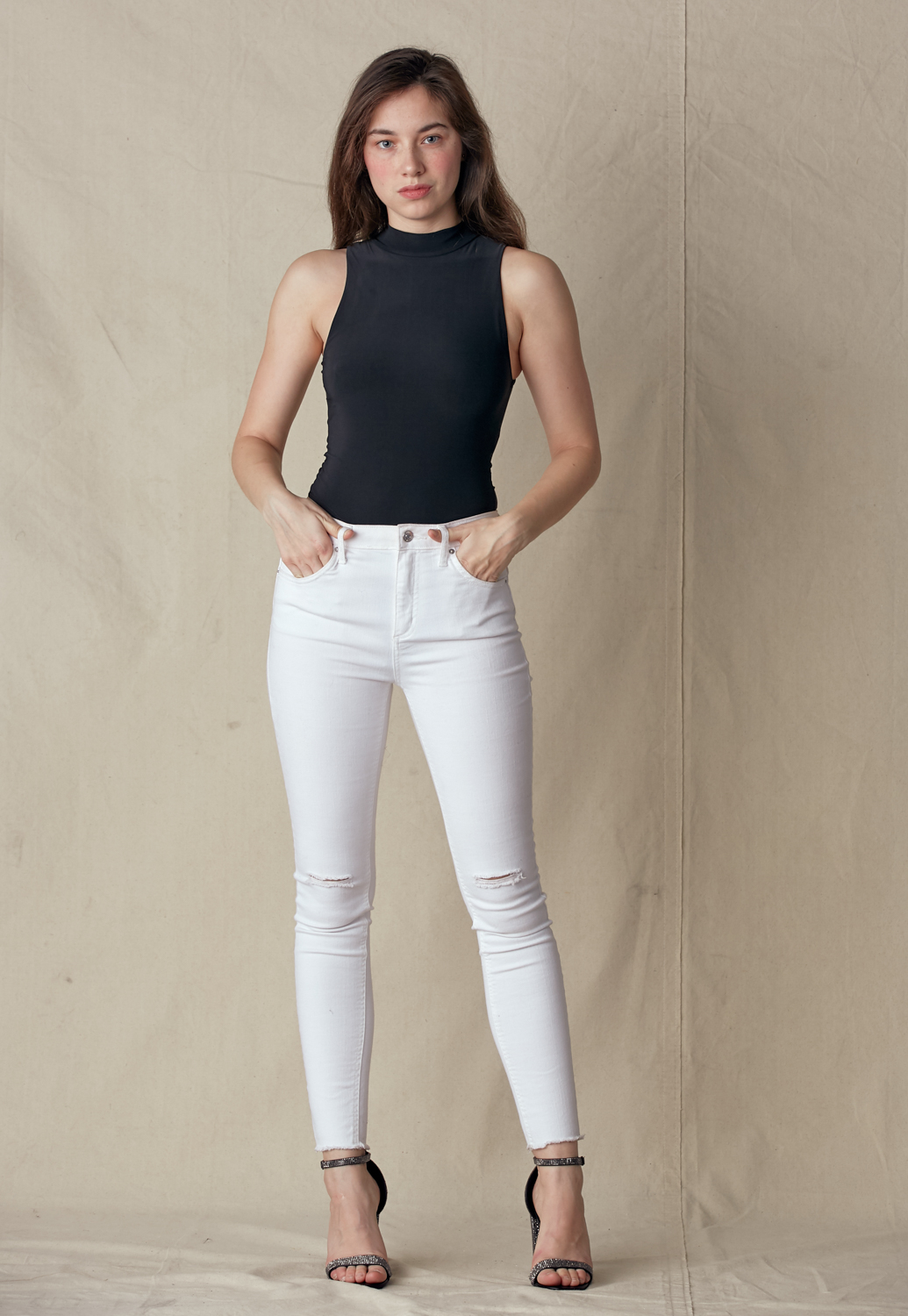 Mock Neck Sleeveless Bodysuit