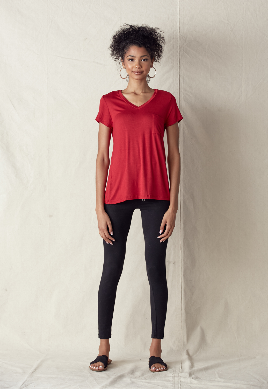 V-Neck Front Pocket Tee