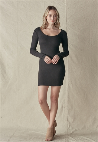 Rib Knit Mini Dress