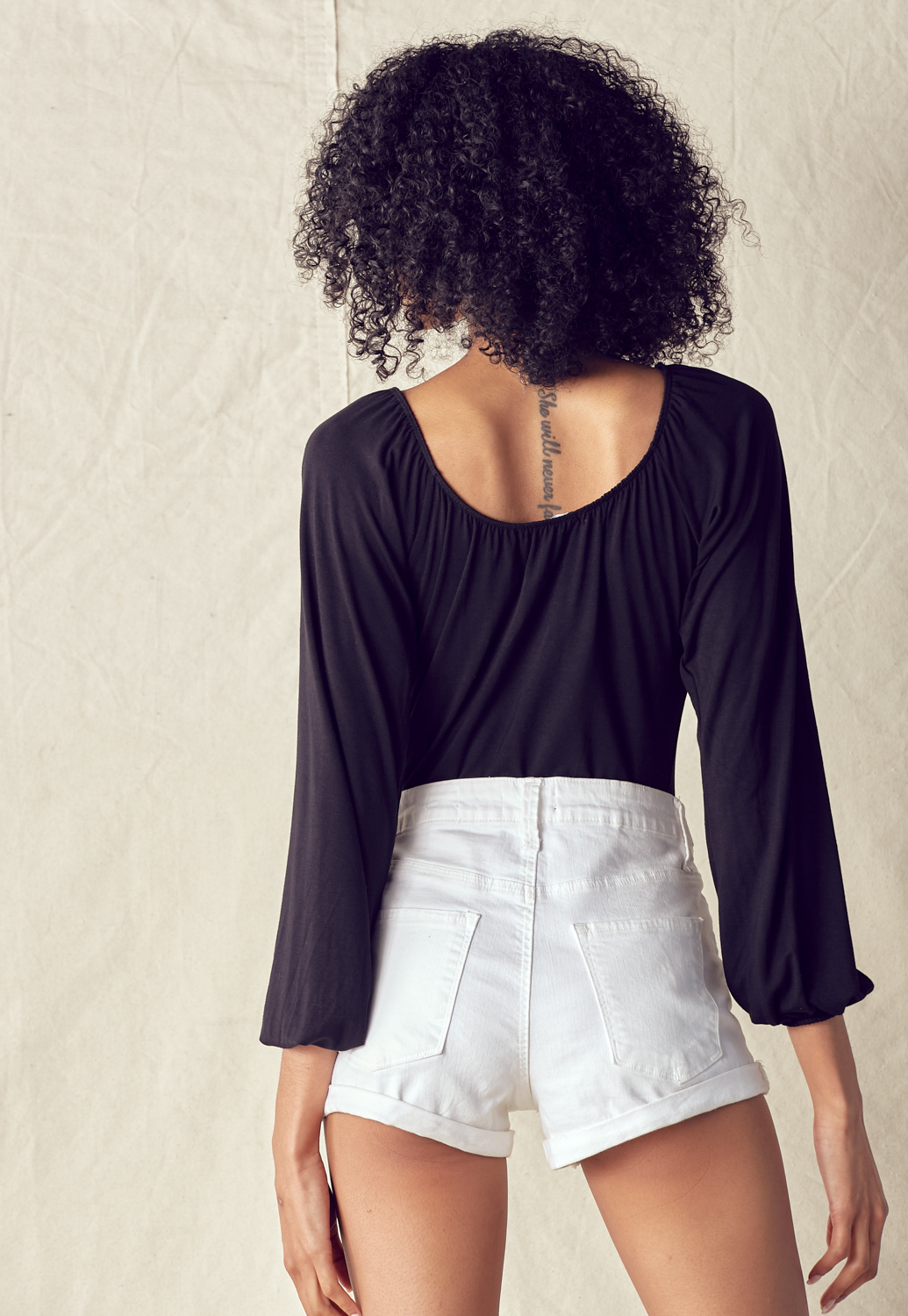 Ruched Bust Long Sleeve Bodysuit