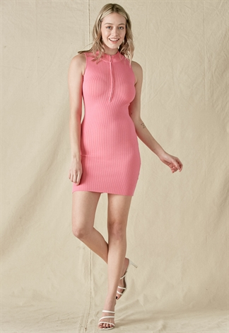 Sleeveless Ribbed Knit Dress