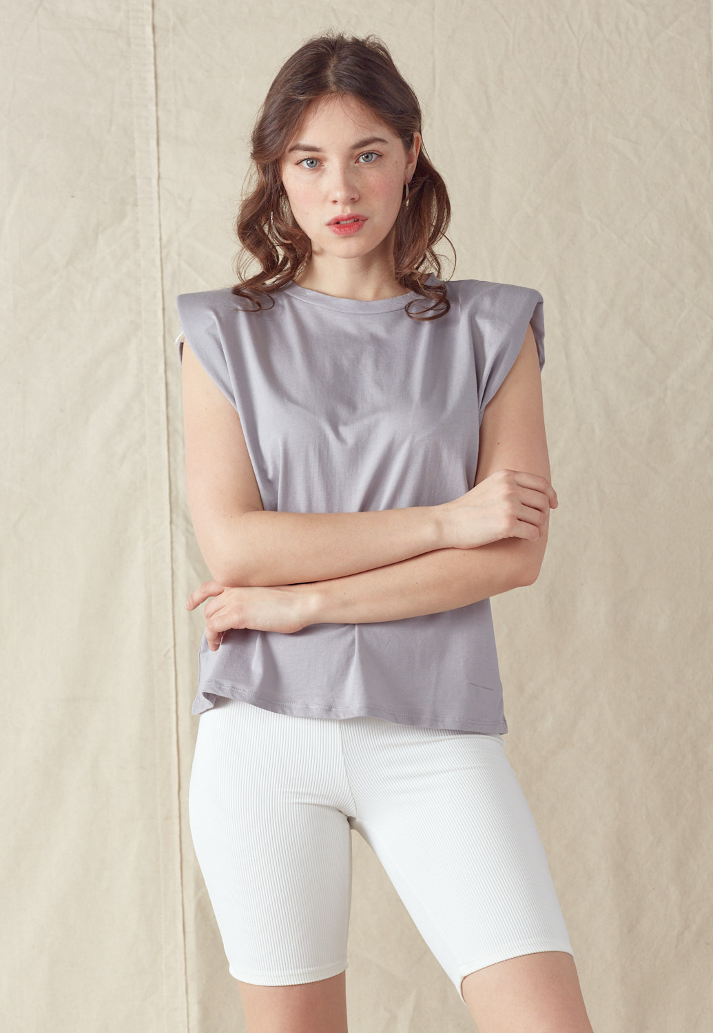 Shoulder Pad Tank Top