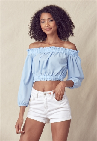 Off-The-Shoulder Crop Top
