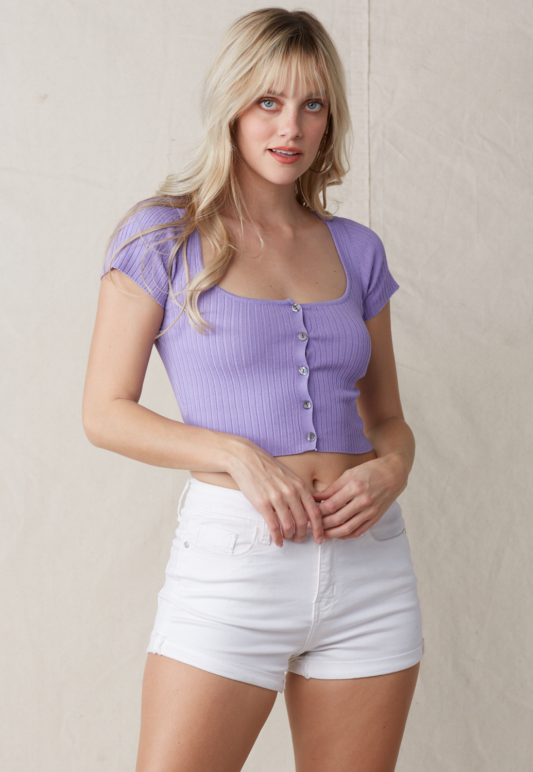 Deep Square Neck Crop Top