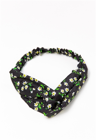 Turban Twisted Floral Hairband