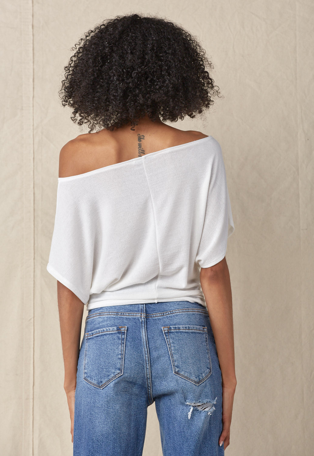 Off Shoulder Graphic Top