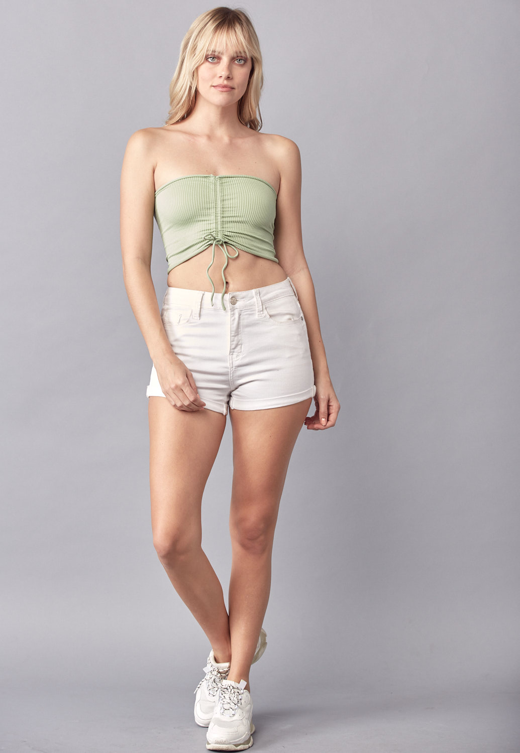 Tube Knit Crop Top