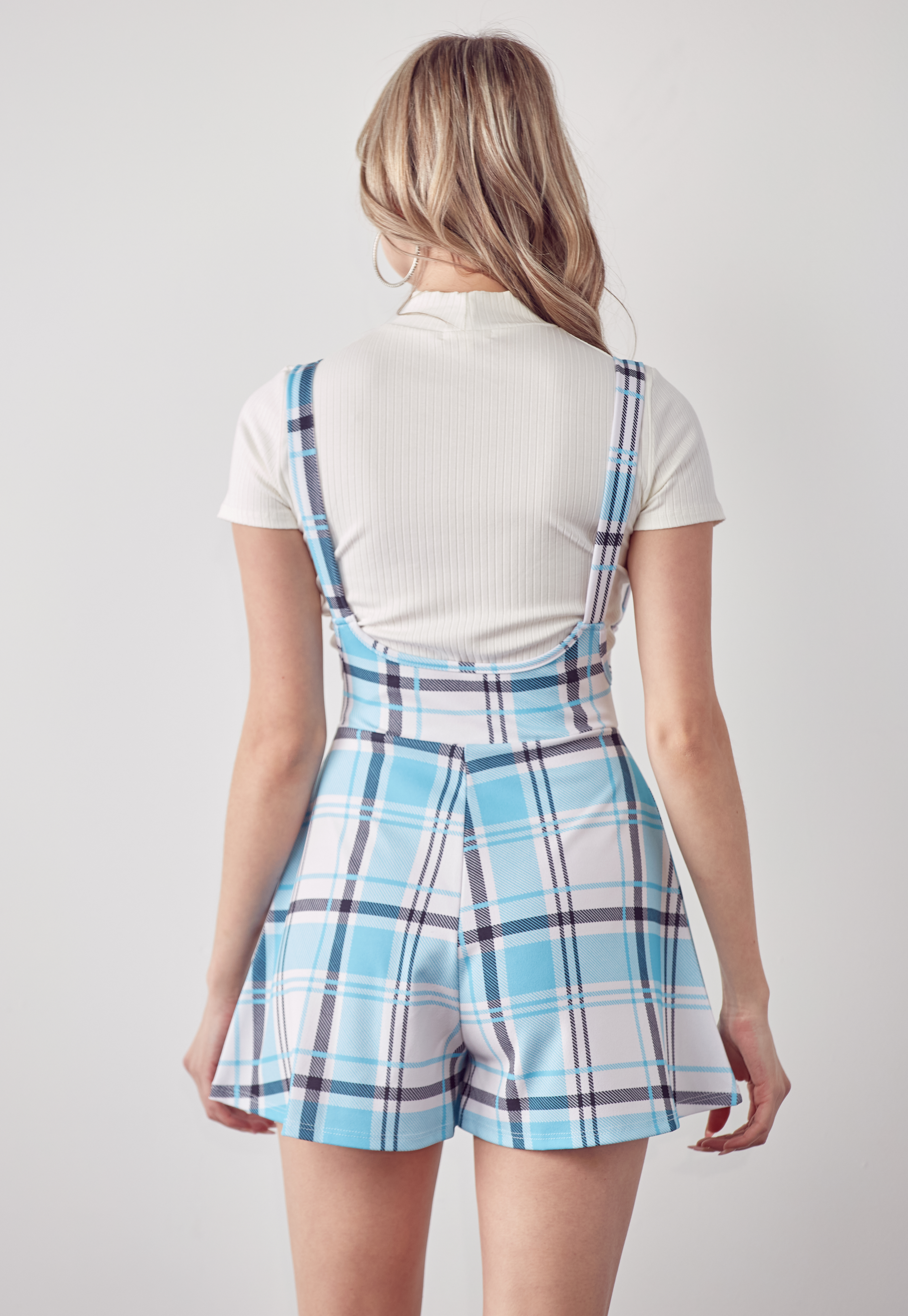 Plaid Overall Romper