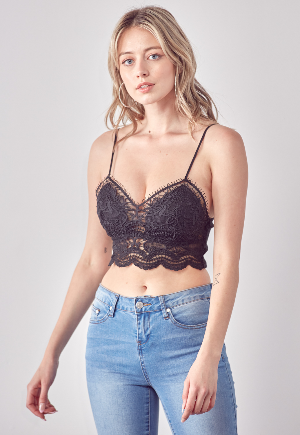 Embroidered Bralette Top
