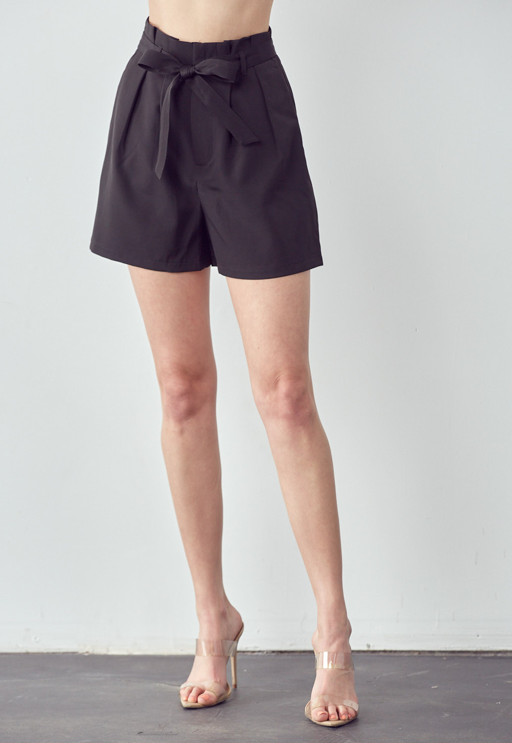 High Waisted Belted Shorts