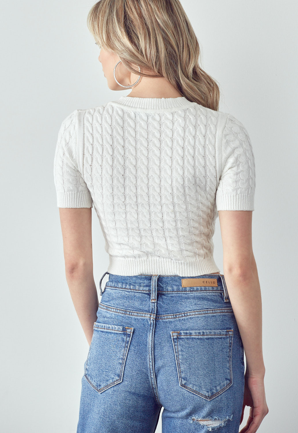 Knitted Twist Sweater Top