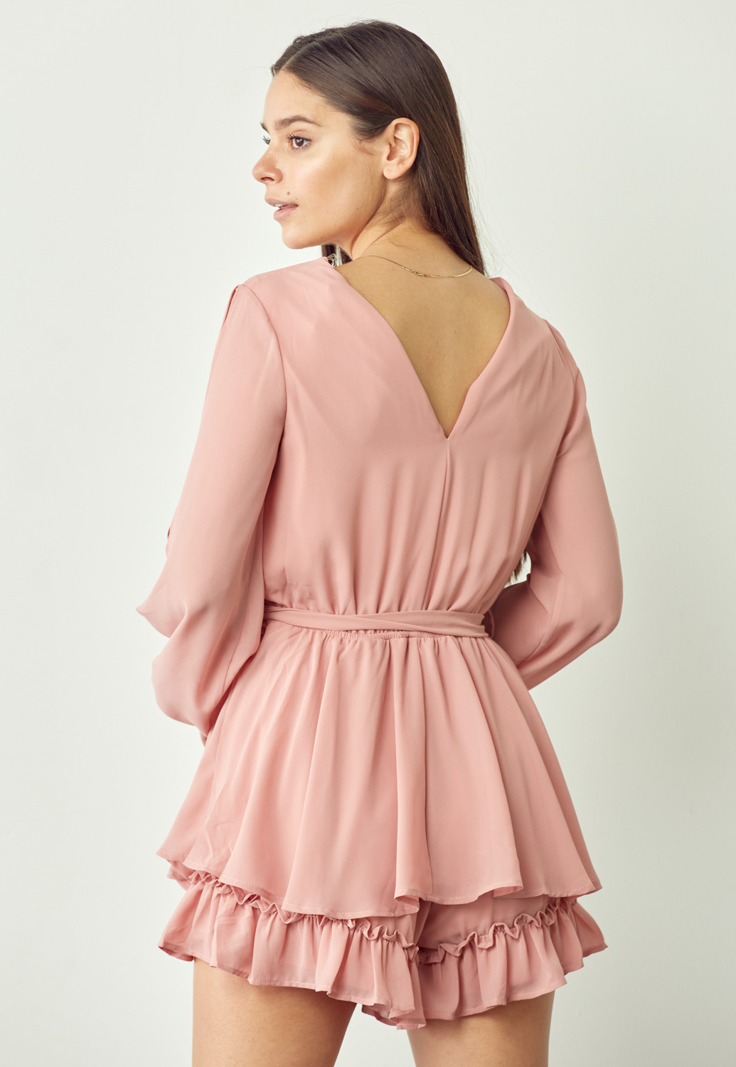 Wrap Cut Out Sleeve Romper