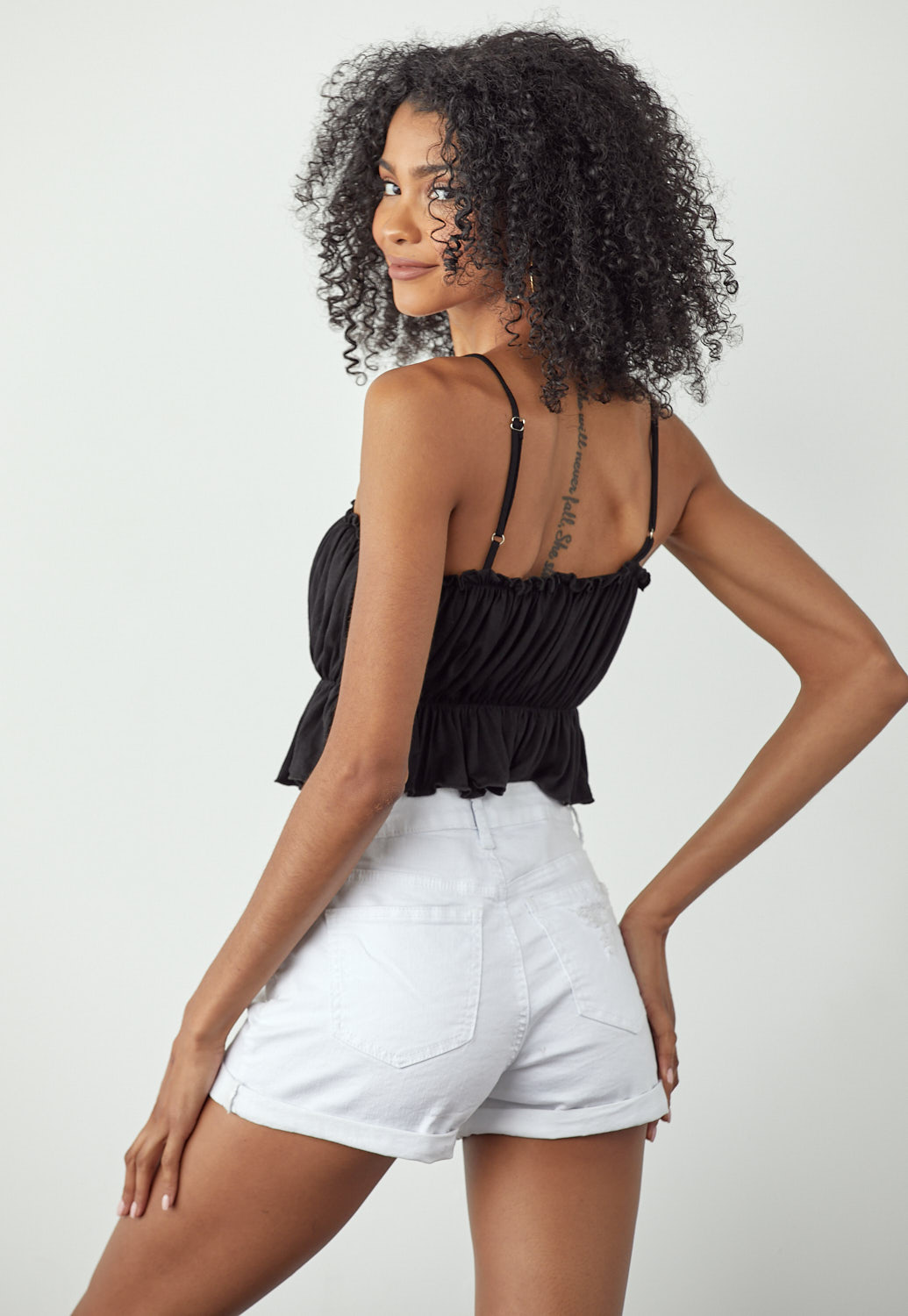 Ruched Cami Crop Top