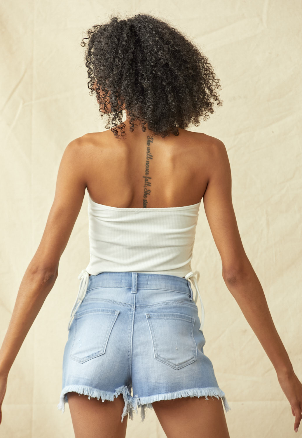 Side Drawstring Tube Top